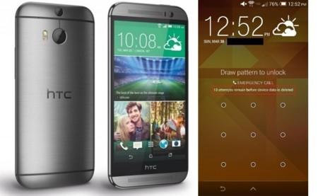 El nuevo HTC One se formateará si introduces 10 veces mal la contraseña o patrón de desbloqueo