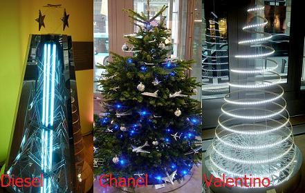 Los árboles de Navidad más fashion del mundo