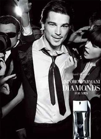 Primera imagen de Josh Hartnet para Emporio Armani Diamonds for Men