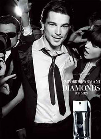 Primera imagen de Josh Hartnet para Emporio Armani Diamonds for Men