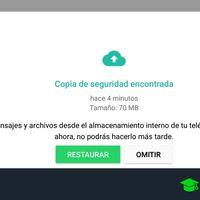 Cómo restaurar mensajes de WhatsApp desde la copia de seguridad