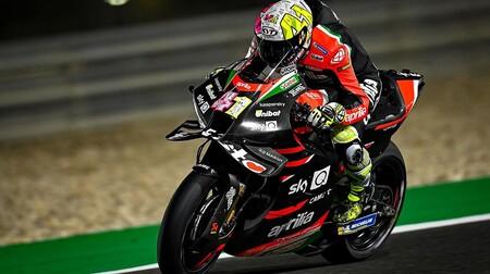 Aleix Espargaró y Aprilia se ponen al frente en el segundo día de test de MotoGP y fuerte caída para Álex Márquez