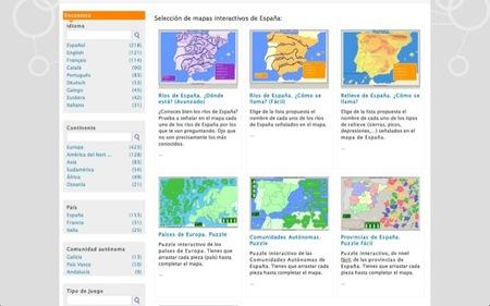 Mapas interactivos de Enrique Alonso para aprender geografía (física y política) de España y del Mundo