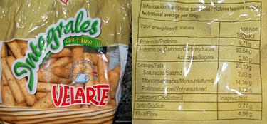 Sorpresas con la información nutricional