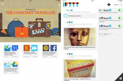 IFTTT actualiza su aplicación en iOS con notificaciones push y versión para iPad