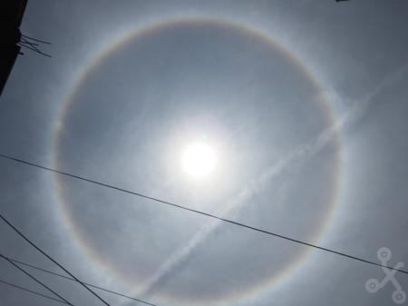 ¿Qué es y cómo se produce un halo alrededor del sol?