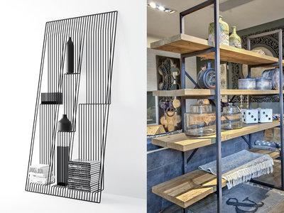 17 ideas de cómo poner estantes de metal en casa