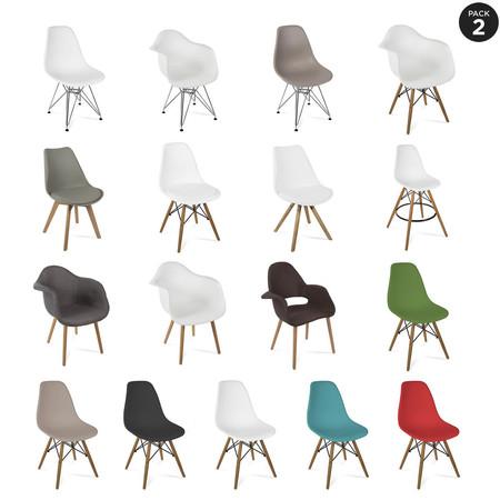 Pack de 2 sillas de diseño Mchaus por sólo 79 euros