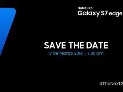 Es oficial: Los Samsung Galaxy S7 y S7 Edge serán presentados en México el 17 de marzo