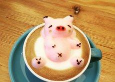 Perdone camarero, ¿hay un cerdo en mi café? Sí, es la nueva tendencia en art latte, y te flipará