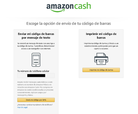 Amazon Cash Codigo De Barras Personalizado