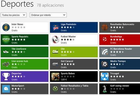Aplicaciones para disfrutar del deporte en Windows 8