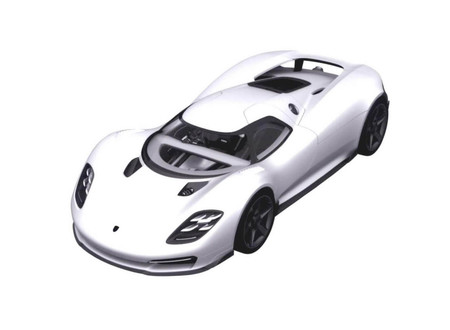 Así podría ser el Porsche 917 de calle, un sucesor para el 918 Spyder, según las imágenes de esta patente