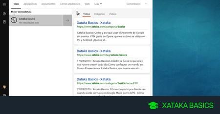 Cómo desactivar Bing en el menú de inicio de Windows 10