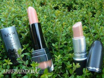 Comparativa de barras de labios nude: MAC vs NYX