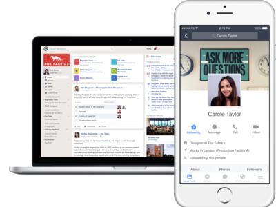 Facebook presentará una versión gratuita de Workplace, para competir con Slack