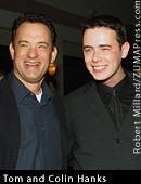 Tom Hanks y Colin Hanks haciendo de padre e hijo