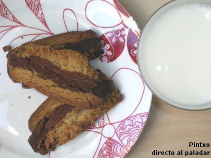 Receta de galletas de chocolate, vainilla y nueces