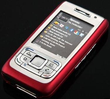 Nokia E65 en color rojo