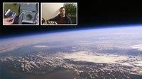 Una nave espacial casera con un globo, una cámara de vídeo y un GPS