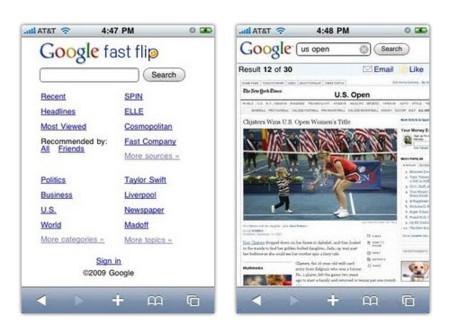 Lee las noticias más rápido con Google Fast Flip
