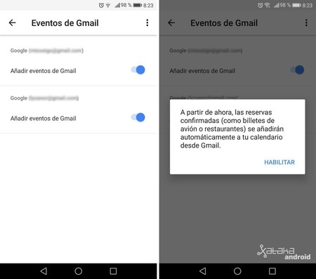 Eventos Gmail Google Calendar