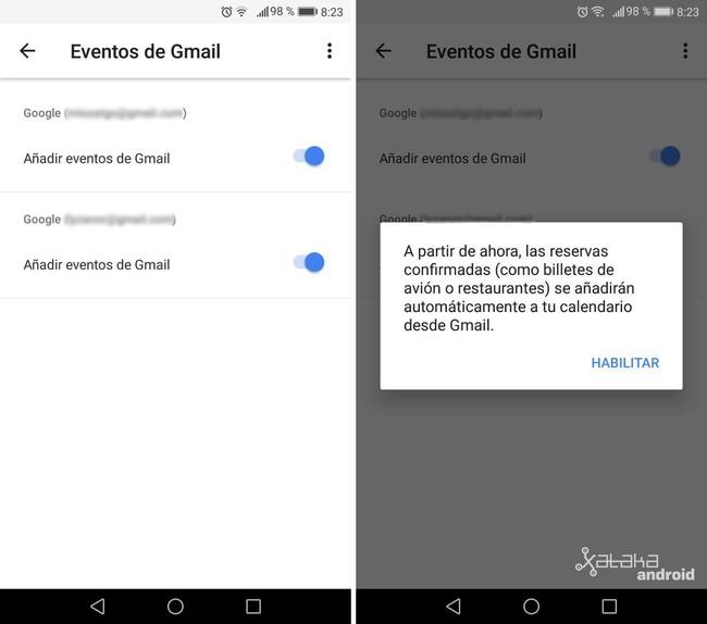 Eventos Gmail Google® Calendar