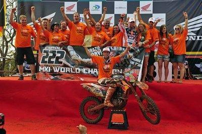 Antonio Cairoli se proclama Campeón del Mundo de MX1 2010 en el Gran Premio de Brasil
