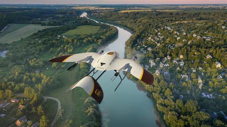 Así son los futuristas drones que usará UPS para entregar paquetes: despegan en vertical y vuelan planeando