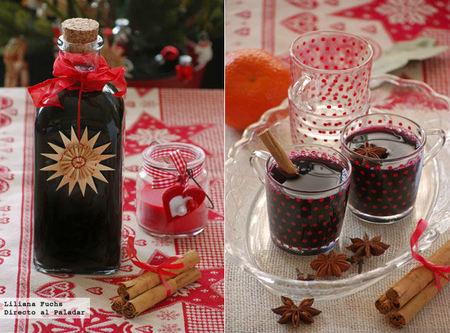 Glühwein, vino caliente especiado. Receta de Navidad
