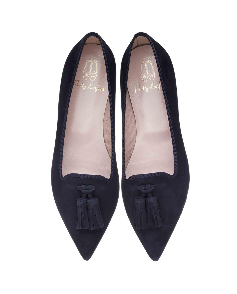 Slippers de mujer Pretty Ballerinas en ante azul marino