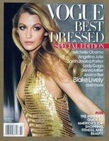 Siéntete afortunada, Blake Lively, porque has sido elegida como portada de las mejor vestidas de 2010