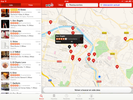 Yelp actualiza su aplicación para iPhone permitiendo incluir vídeo