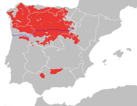Población del lobo ibérico en 2013