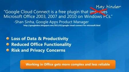 Microsoft dispara contra Google Cloud Connect