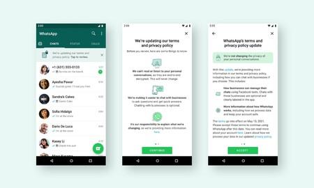 WhatsApp explicará con un nuevo banner la nueva política de privacidad que entra en vigor el 15 de mayo