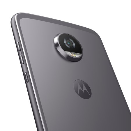 Moto Z2 Play Backdetail Lunargray