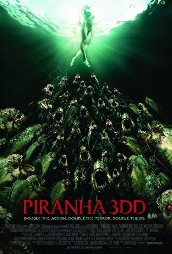 Segundo póster de Piraña 3DD, la secuela de Piraña 3D