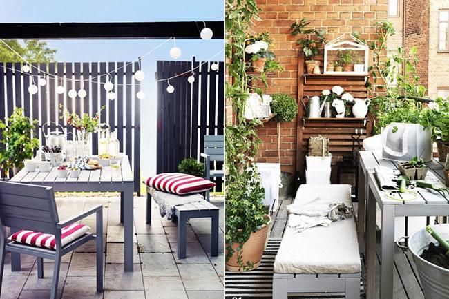 C mo organizar una comida perfecta en la terraza - Terrazas pequenas ikea ...