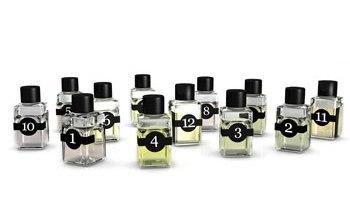 Los frascos de 7 ml numerados