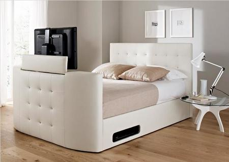 En la cama Atlantis leather Ottoman con TV me gustaría despertarme ...
