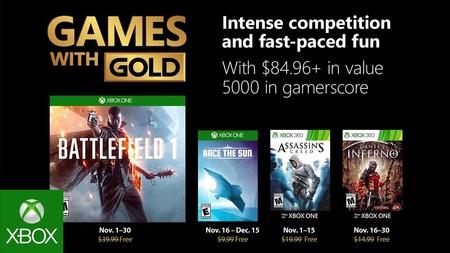 Battlefield 1 y Dante's Inferno entre los juegos de Games With Gold en noviembre de 2018