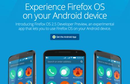 Ya puedes probar la última versión de Firefox OS en tu Android simplemente instalando un APK