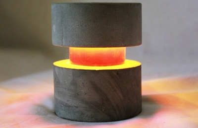 O-Lite, una pequeña lámpara LED de cemento que podemos llevar a cualquier punto de casa