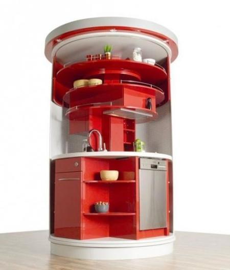 cocina circle rojo fregadero