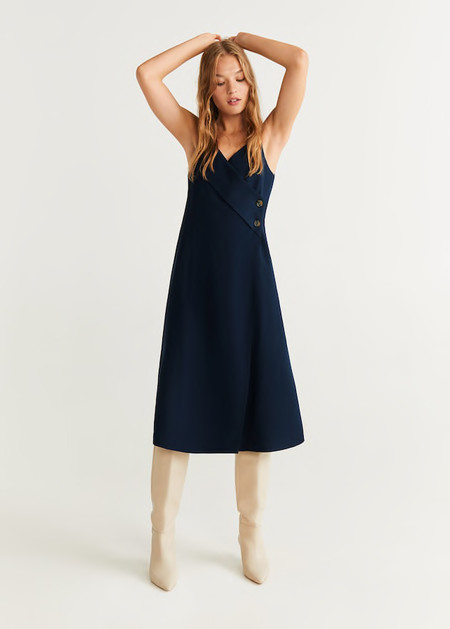 Como Combinar Un Vestido Azul Marino 2