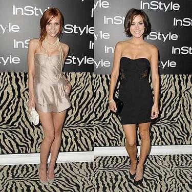Jessica Stroup y Ashlee Simpson de fiesta con InStyle