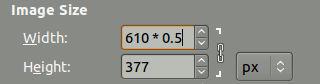 GIMP 2.8, operaciones matemáticas sencillas