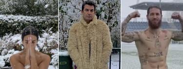 ¡En bolas van! Cristina Pedroche, Kiko Jiménez o Paco León: 9 famosos totalmente desnudos en la nieve durante el temporal Filomena
