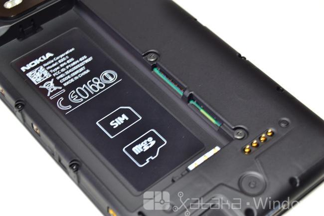 Interior del Lumia 820